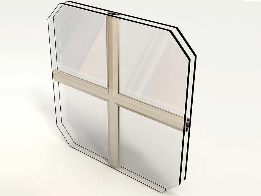Dekoratīvas stikla paketes