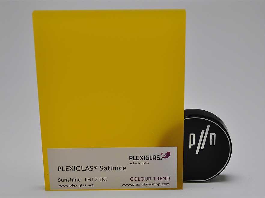 Plexiglas Satinice Yellow 1H17 DC