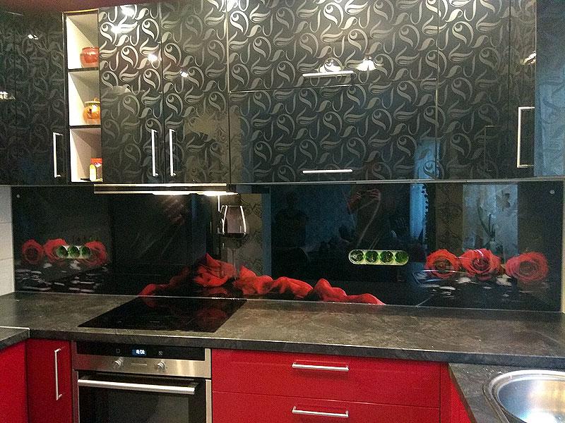 Tumšs virtuves panelis