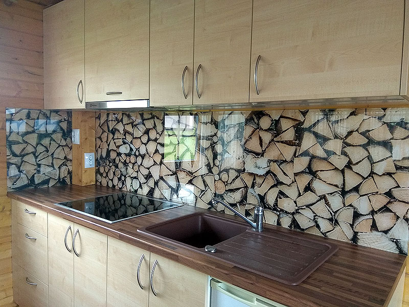 Virtuves panelis ar malkas attēlu